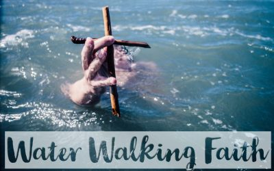 water walking faith image